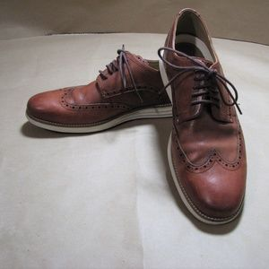 Cole Haan Os Brown Wingtip Oxfords 10.5M Leather